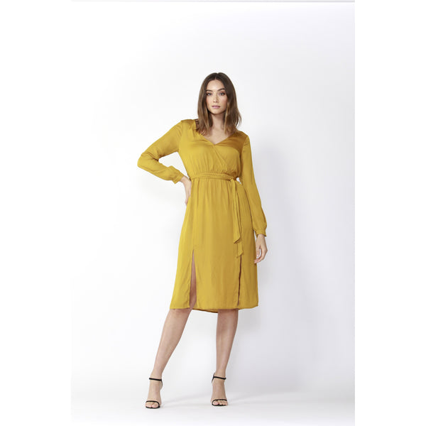 Fate & Becker On The Run Mustard Dress