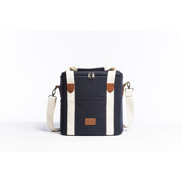 Cooler Bag - Navy Beach + Boat + BBQ Default Title Slowlife Collection