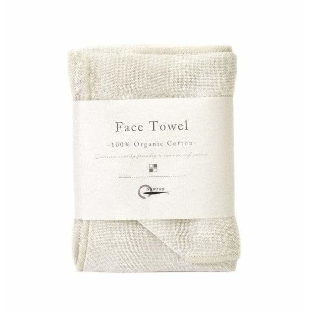 Organic Cotton Face Cloth - 2 Colours Towels + Cloths Ivory Nawrap