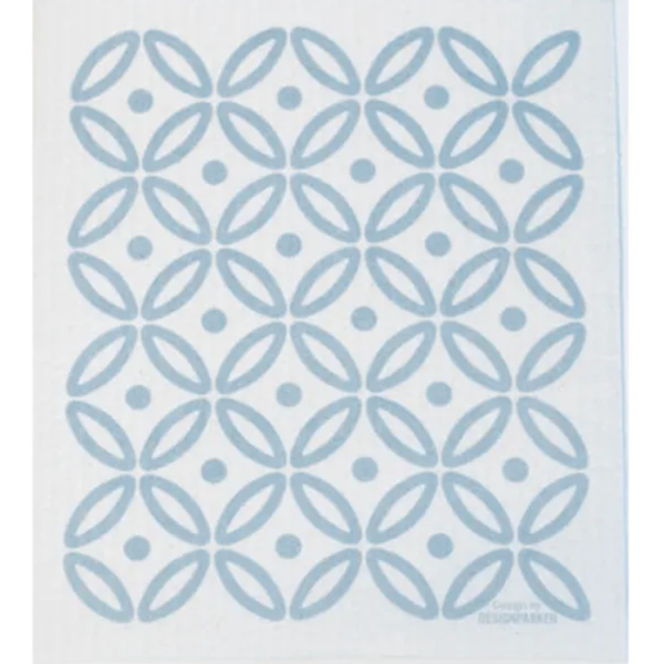 Florence Art Deco Dish Cloth Blue, Florence Auckland Stockist, Reusable Cleaning Cloth, Reusable Dish Cloth