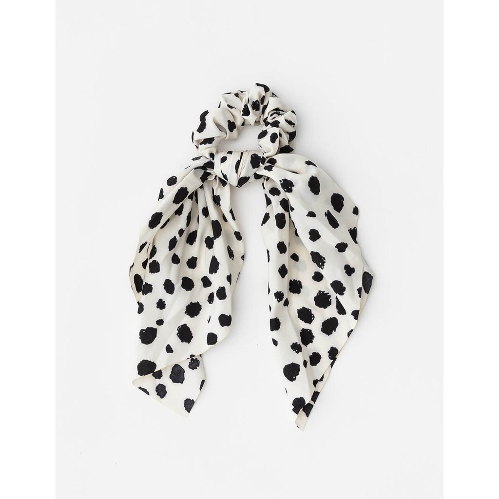 Scrunchie Scarf - White Dot Womens Accessories Default Title Stella & Gemma