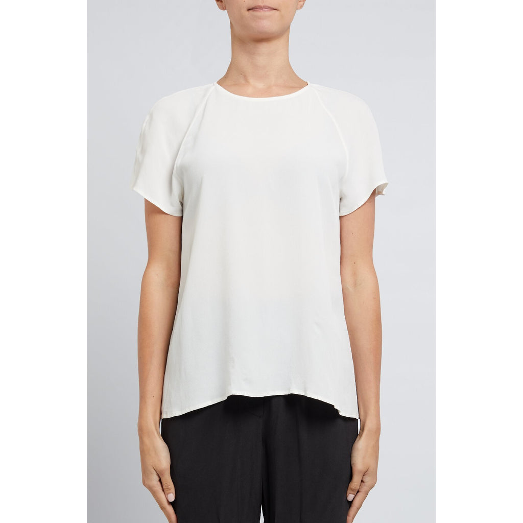 Cable Melbourne Elise Silk Top - White