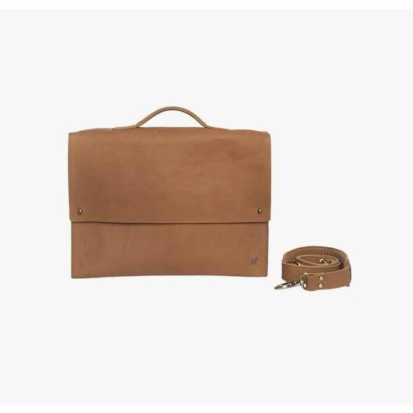 Duffle & Co Tan Leather Forrest Satchel