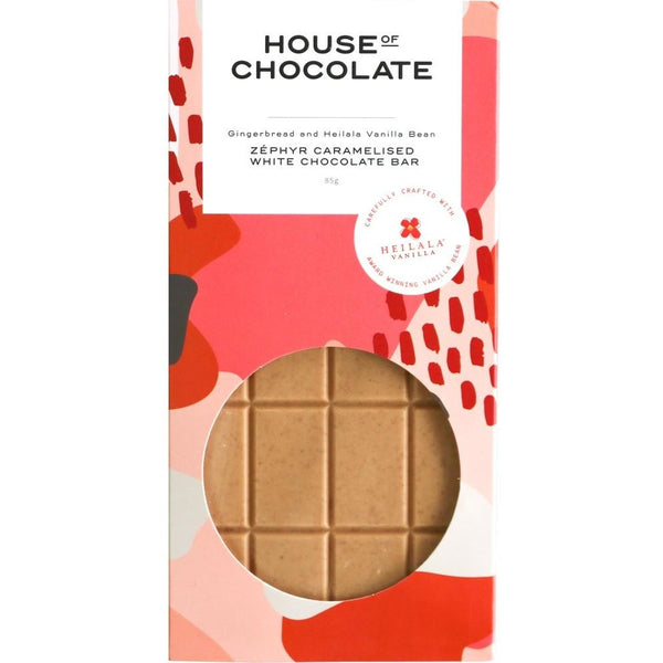 House of Chocolate Zephyr Caramel, Gingerbread &  Vanilla Bar, Chocolate Bar, New Zealand Made, Hand Made