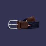 Woven Belt  - XXL - 3 Colours Mens Accessories London (Black),New York (Grey),Paris (Navy) La Boucle