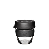 KeepCup Brew Reusable Glass Cup Black