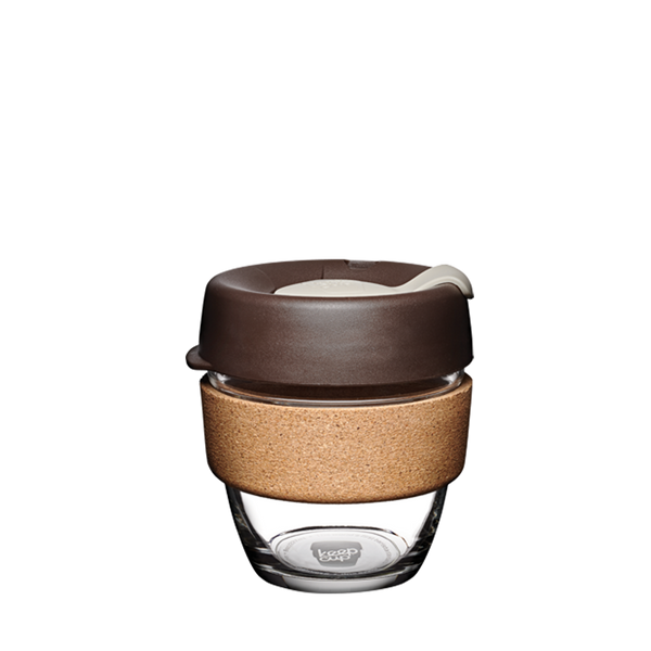 KeepCup  Brew Cork Edition Glass Reusable Cup Almond