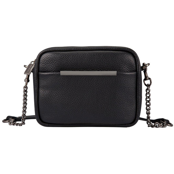 Status Anxiety Crossbody Leather Bag Cult Black