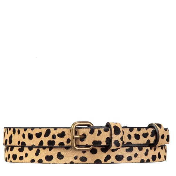 Status Anxiety Womens Leather Belt Never Never Cheetah
