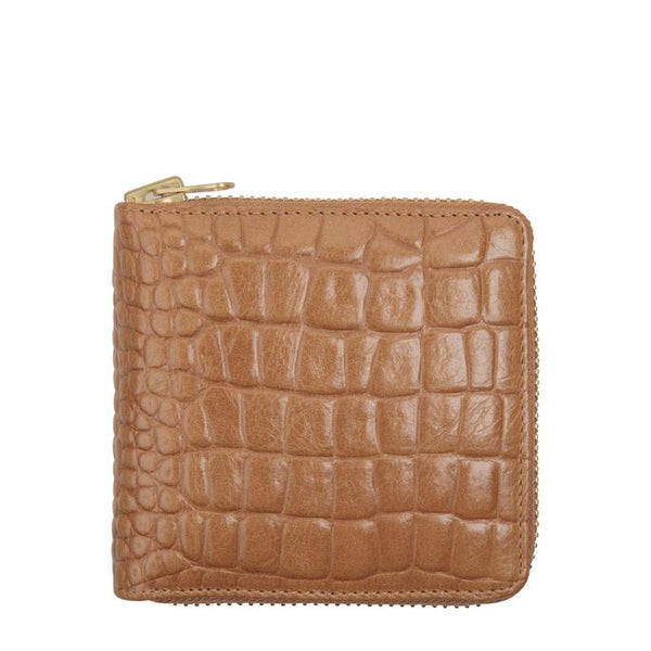 Status Anxiety Womens Leather Wallet Empire Tan Croc