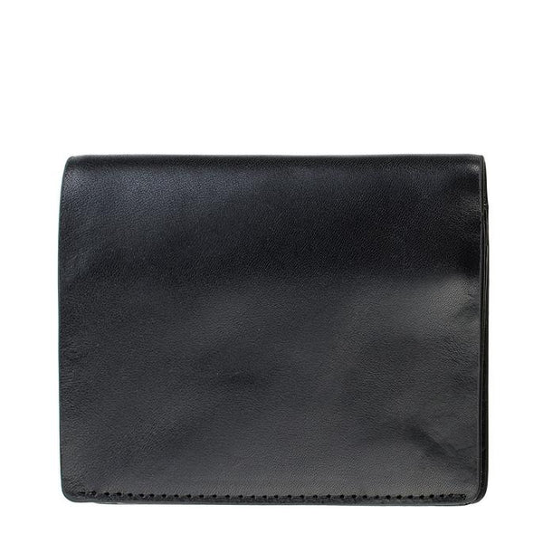Status Anxiety Mens Leather Tri-Fold Wallet Nathaniel Black