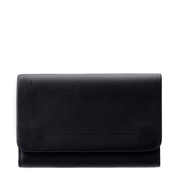 Status Anxiety Black Leather Remnant Wallet