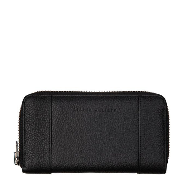 Status Anxiety Womens Leather Wallet State of Flux Black