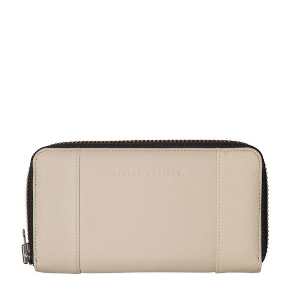 Status Anxiety Womens Leather Wallet State of Flux Nude