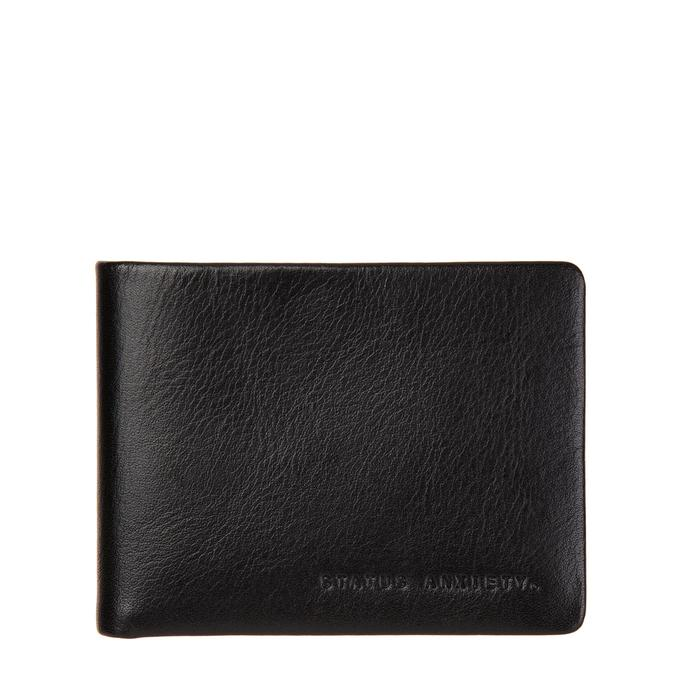 Status Anxiety Mens Slim Leather Wallet Tobias Black