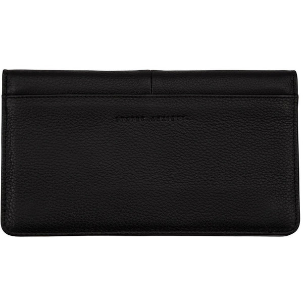 Status Anxiety Triple Threat Wallet Black soft leather