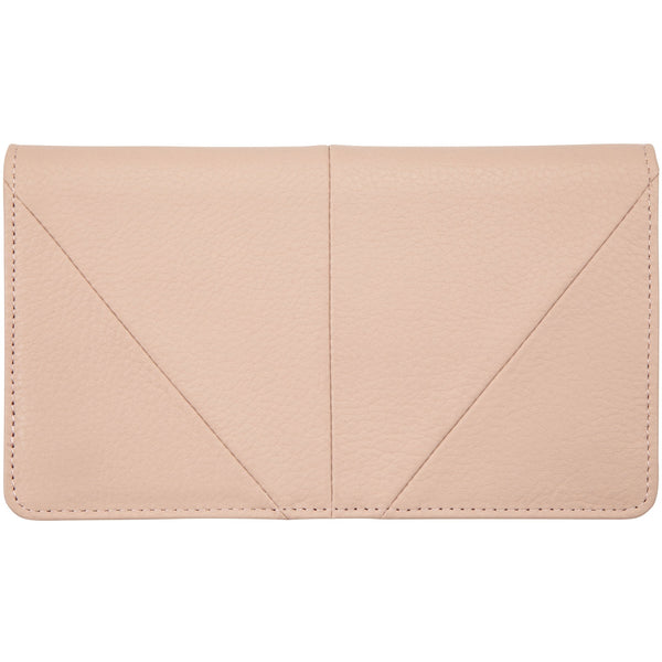 Status Anxiety Triple Threat Wallet soft leather dusty pink