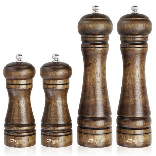 1pc or 4pcs/set Classical Oak Wood Mill Grinder Set-4 Piece Set-ChowStuffs