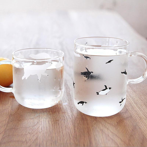 CUTE Frosted Penguin/Polar Bear Mug-ChowStuffs