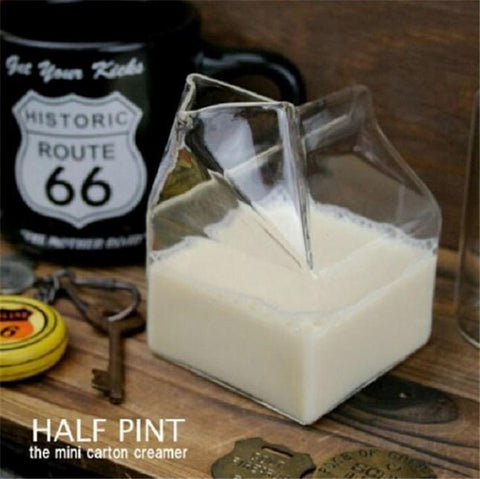 Half Pint Glass Milk Carton-ChowStuffs