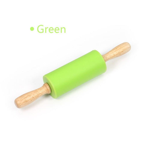 Kids Silicone Rolling Pin-Green-ChowStuffs