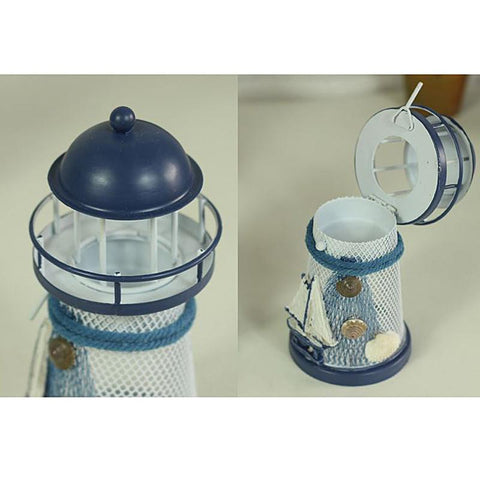 Mediterranean Wrought Iron Light House Candle Holder-ChowStuffs