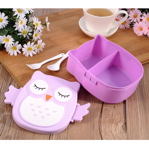 Owl Lunch Box-Purple-ChowStuffs
