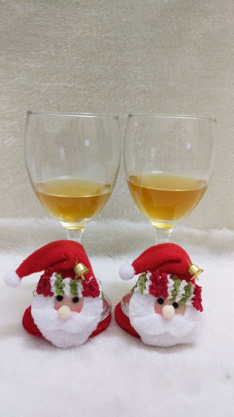 CUTE Santa Coasters & Christmas Wine Bottle Covers
