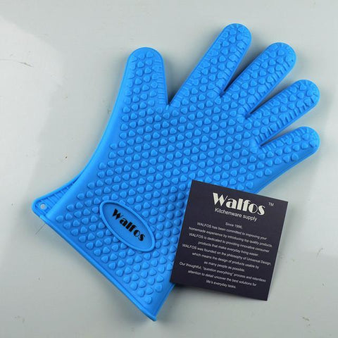 WALFOS Silicone Cooking Glove-Blue-ChowStuffs