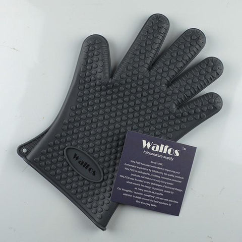 WALFOS Silicone Cooking Glove-Gray-ChowStuffs