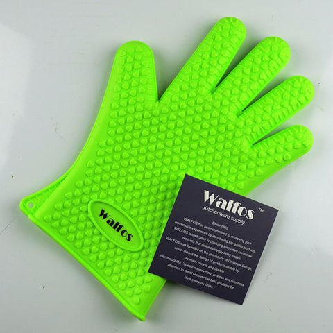 WALFOS Silicone Cooking Glove-Green-ChowStuffs