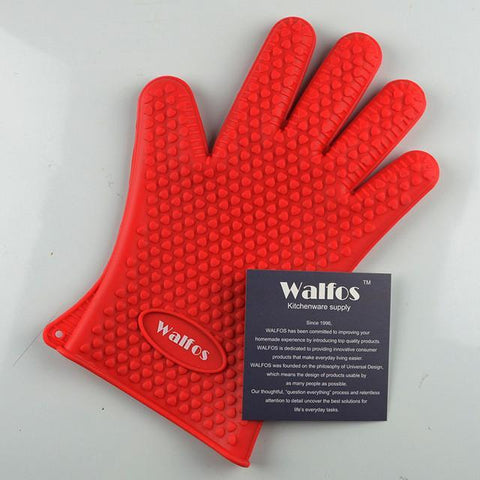 WALFOS Silicone Cooking Glove-Red-ChowStuffs