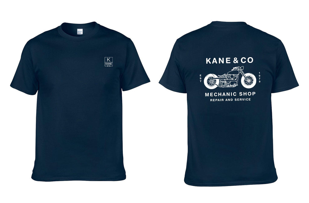 Sprocket Motorcycle Tee - Navy