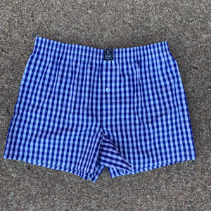 The Classic Boxer- Cobalt Blue Check