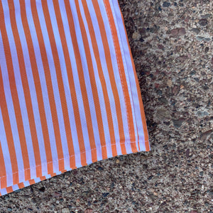 The Classic Boxer- Orange/ White Stripe