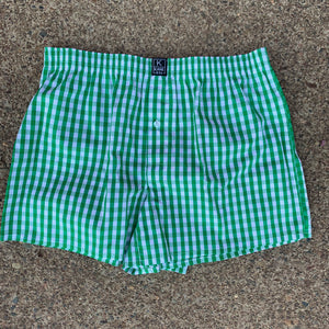 The Classic Boxer- Shamrock Green/ White Check