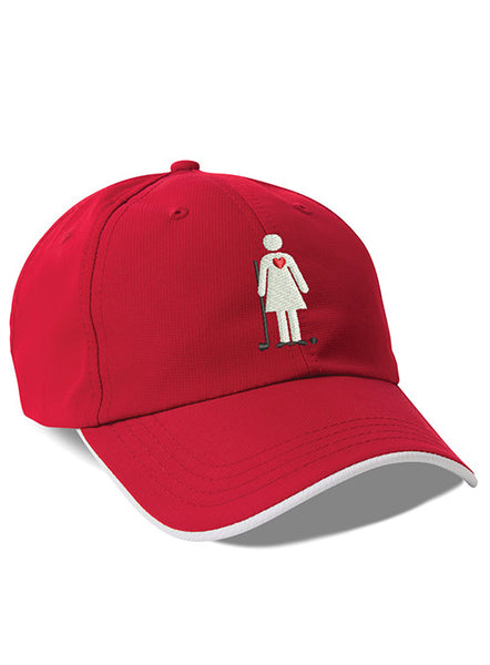 Women's Golf Day Performance Cardinal Red Cap