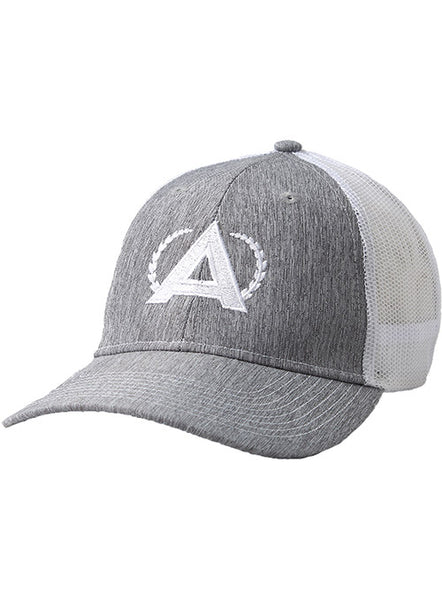 Annika Chino Twill Grey and White Meshback Cap