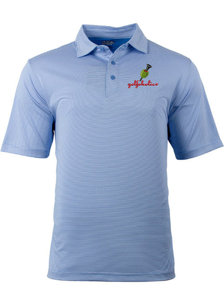 Golfoholics Xtra-Dry Martini Polo Mini Blue & White Stripe