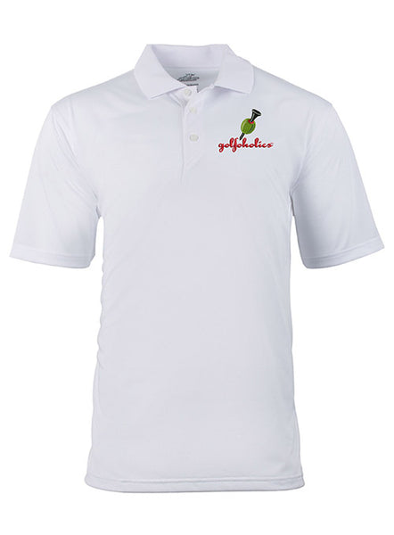 Golfoholics Dry Martini Polo in White