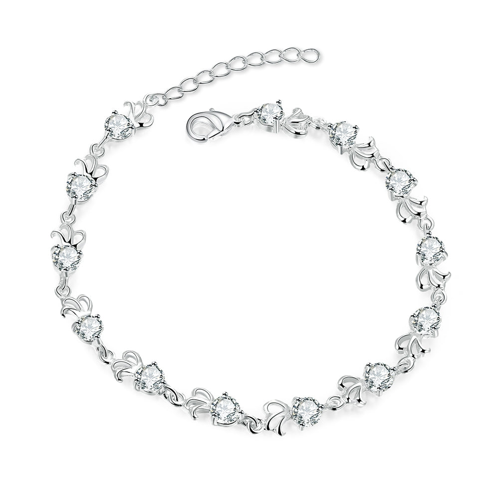silver s authentic bracelet zircon women product sterling womens bracelets