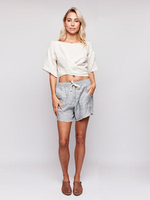 Florence Wrap Top Short Sleeve