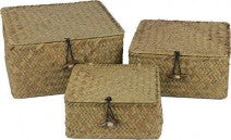 Woven Lidded Box Natural