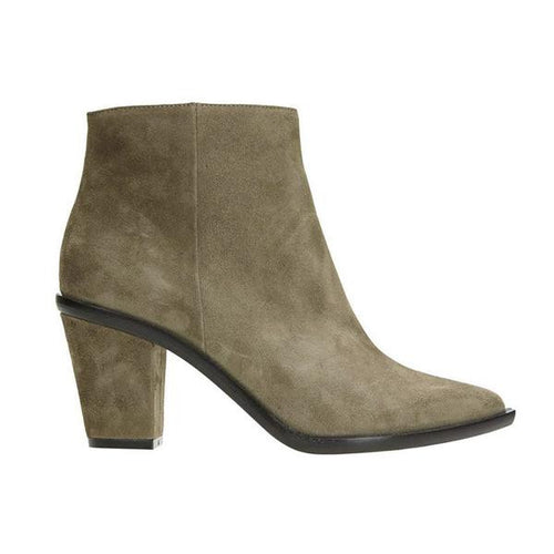 Estilo Emporio STACKED HEEL ANKLE BOOT - TAUPE