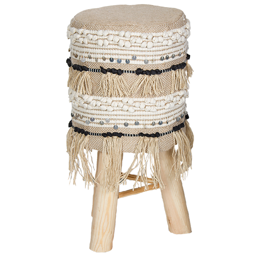Tall Occasional Wooden Stool - Chai Collection