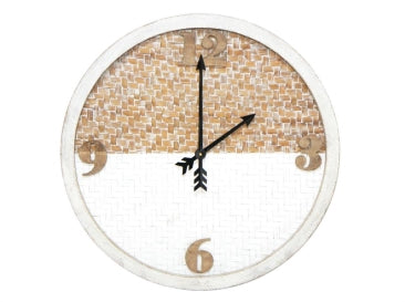 Talia Clock with Woven Backing