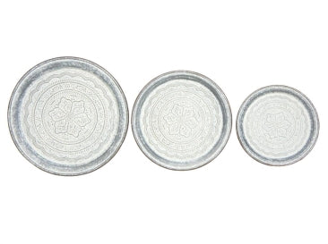 Tabor Round Metal Trays