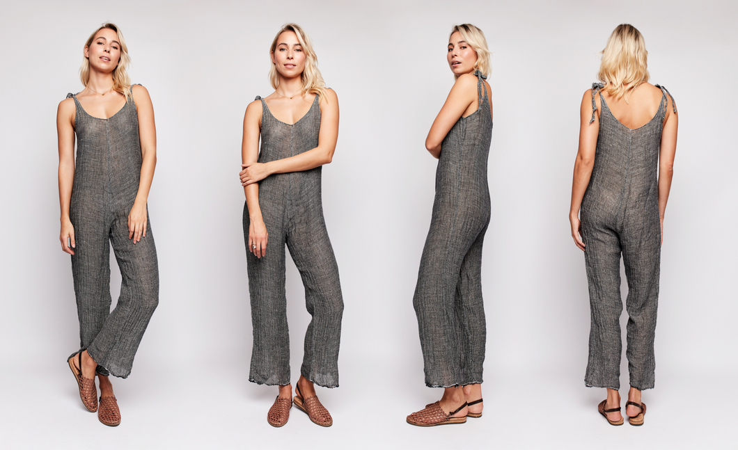 GEORGIE A - Lilly Jumpsuit with Tie-Up Straps
