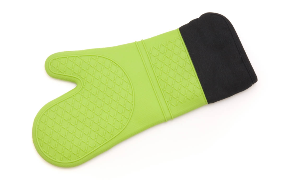 Silicone/Fabric Oven Glove Green