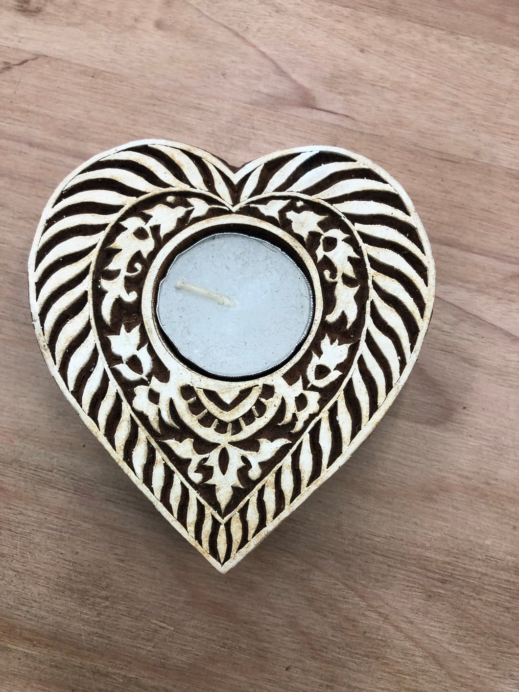 Carved Heart Tealight